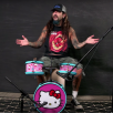 Et Hello Kitty trommesæt, Mike Portnoy og Slayer