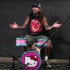 Et Hello Kitty trommesæt, Mike Portnoy og Slayer
