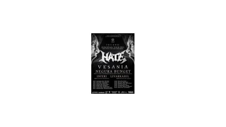 Erebos European Tour 2011 (Hate, Vesania, Negura Bunget, Inferi)