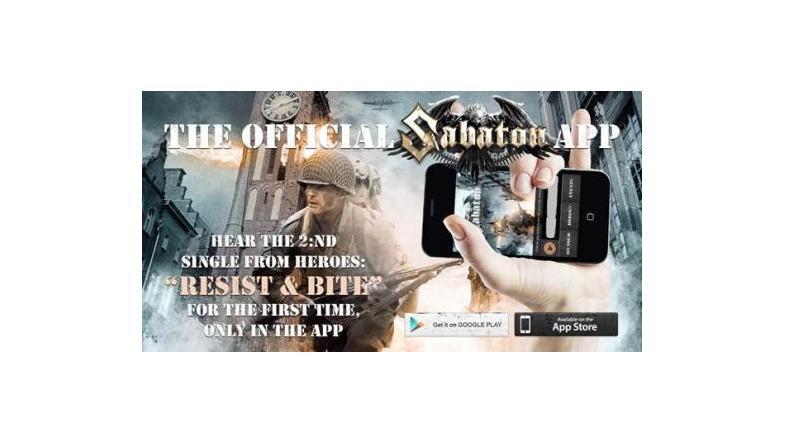 Sabaton: Nu også som en app - både til iPhone og Android